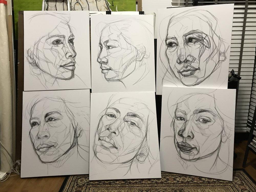 Malay Women Sketches
