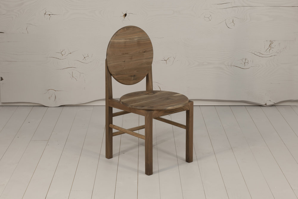 Mün Dining Chair, 2018  English Walnut timber, hand rubbed finish. 900H x 510D x 465W   $975     Enquire