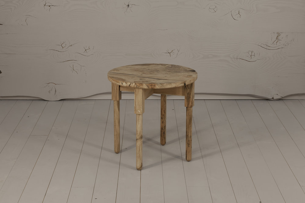 Ley Side Table, 2018  European Oak, hand rubbed finish. 580H x 580D   $940    SOLD