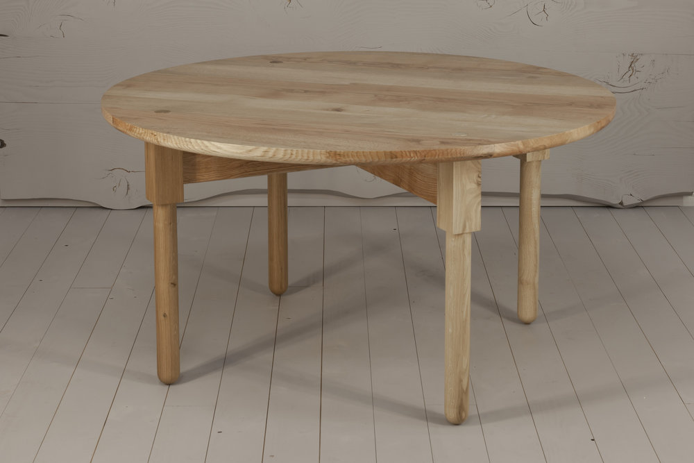 Ley Dining Table, 2018  Pin Oak, Polyx Oil finish 740H x 1400D   $5410    SOLD