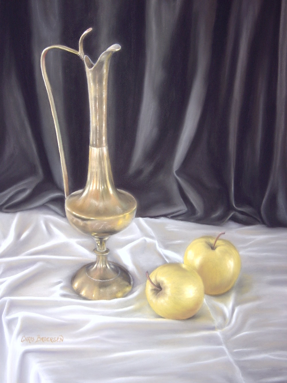 Brass Urn with Apples