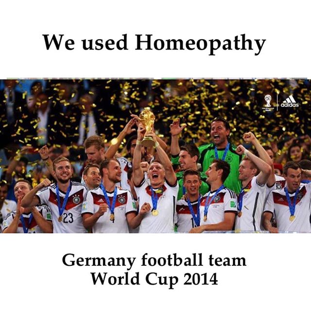 "A study, carried out by researchers from Koblenz, found that 92% of the doctors of German football league teams prescribe homeopathic remedies.  The lead researcher, Peter Billigmann, when interviewed by Der Spiegel, said: ""The success stories are impressive... homeopathic substances don't have any side effects, and we're on the safe side where doping is concerned."""