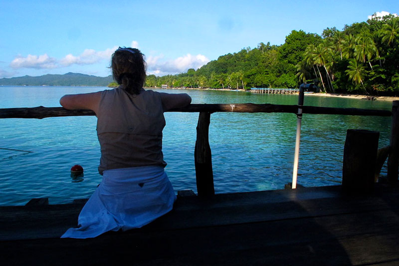 Kat taking in the beauty of Raja Ampat.