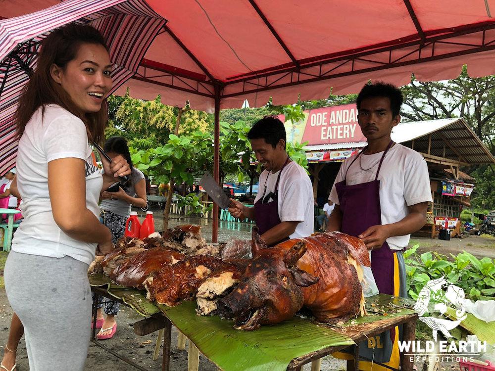 'Hog Roast' Malatapay Market - Philippines - Wild Earth Expeditions