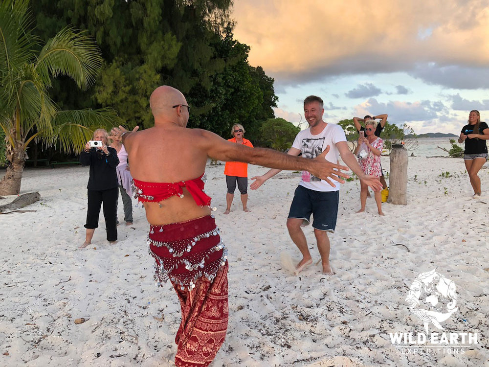 Thomas the 'belly dancing' entertainment - Palau - Wild Earth Expeditions