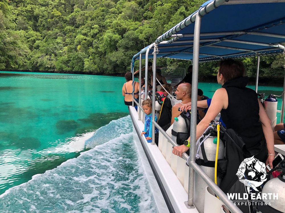 Crystal clear waters for the Rock Islands - Palau - Wild Earth Expeditions