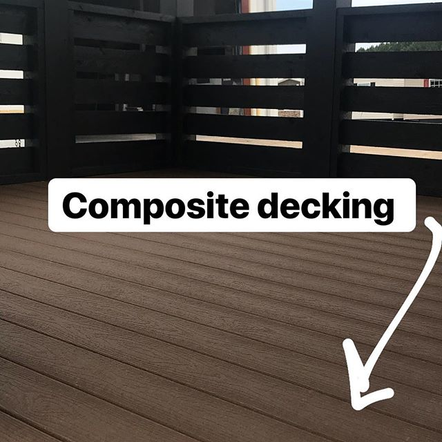 We recommend the composite decking on the #tinyhome series. View our #parkmodelrv models at link in bio!