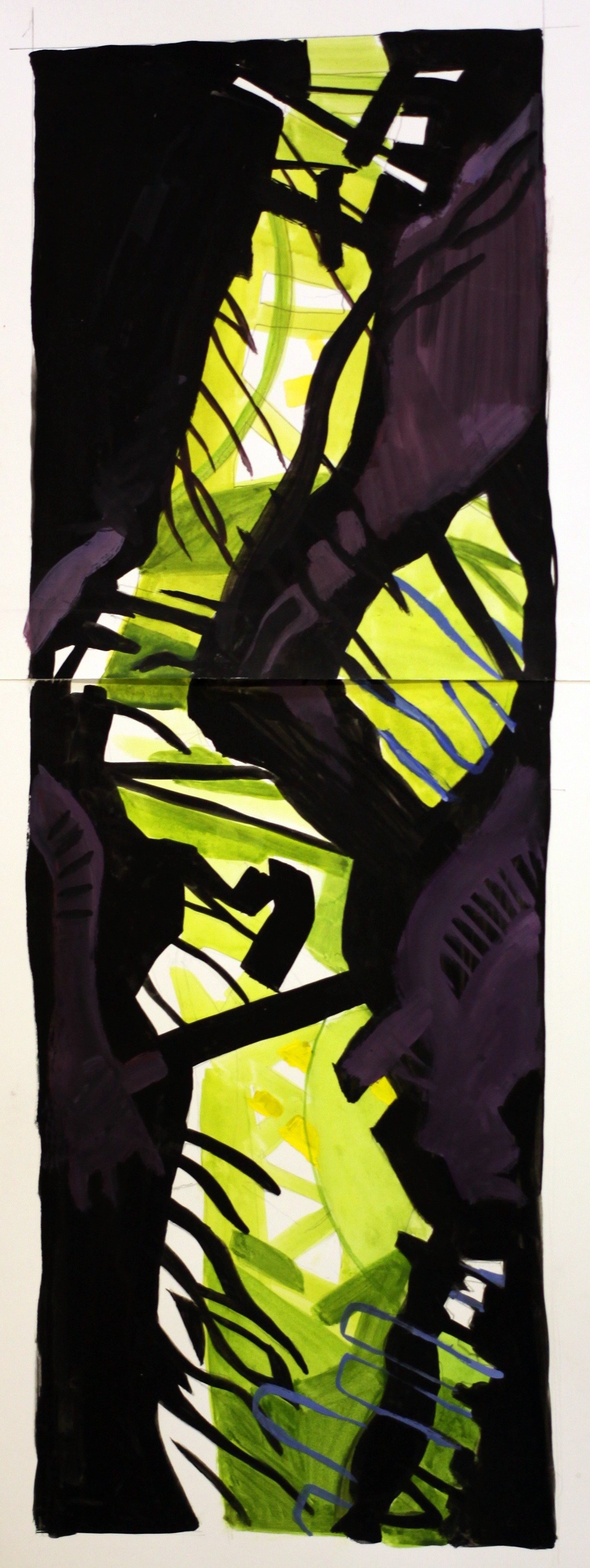 Sam Scorer Phill Bowman 043 - Meander (Green), 2014