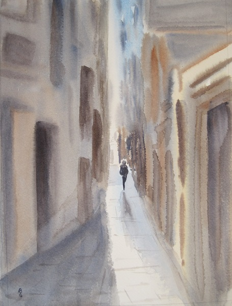 A Narrow Walk in Venice