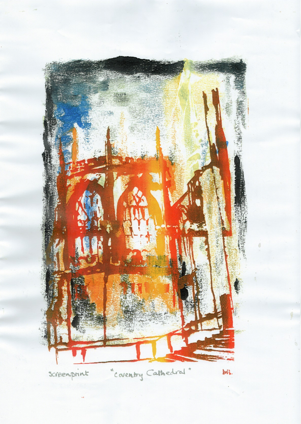 Dean William Birch, Coventry Cathedral, Screenprint