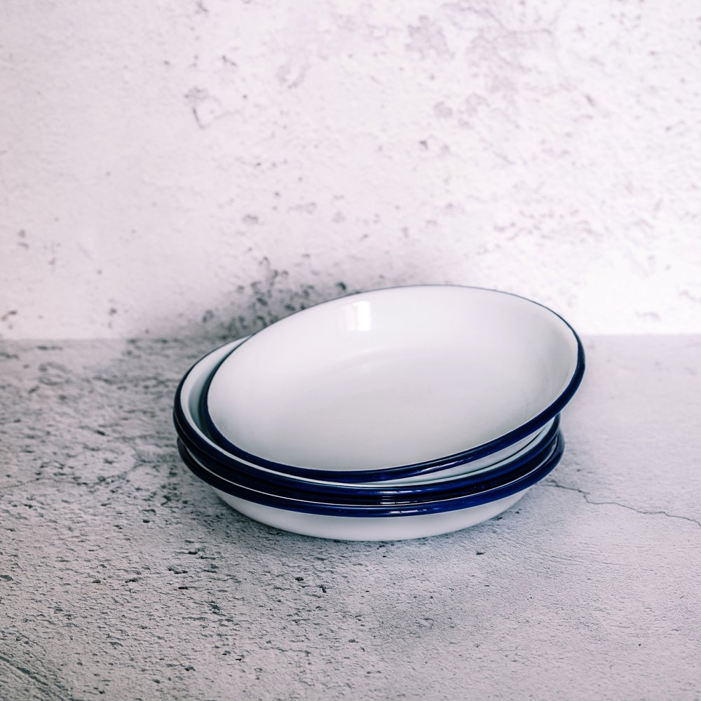Enamelware deep plate - CHF16.00 (set of 2)