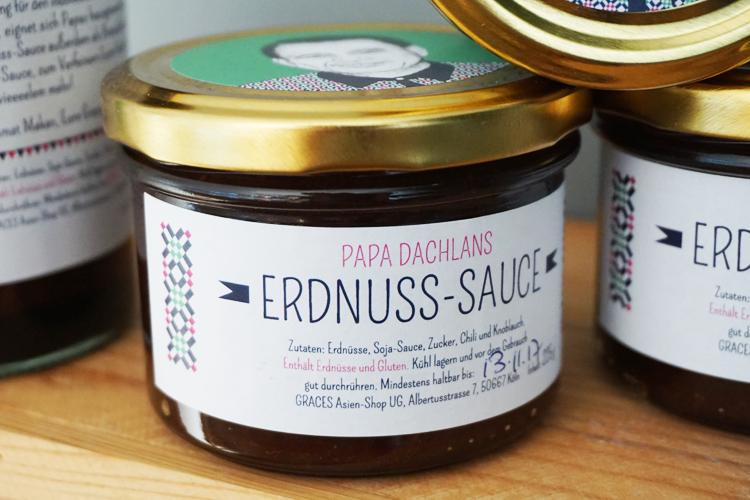 Papa Dachlans Erdnuss-Sauce Detail