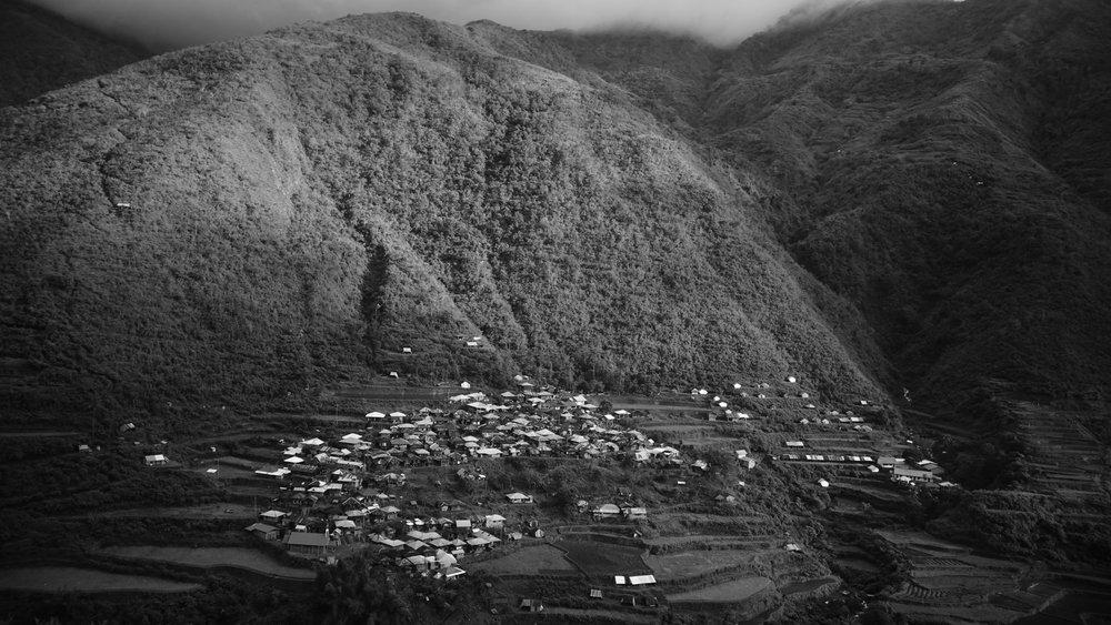 A village in the Kalinga mountains