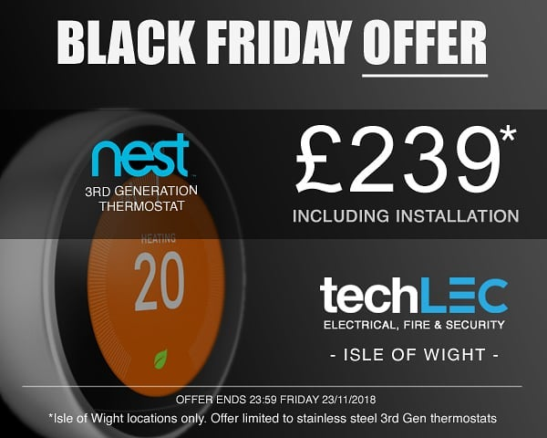 Nest 3rd Gen Thermostats £239 installed!! Black Friday Offer. Place your order before Midnight Friday to take a advantage. Isle of Wight Only. #blackfriday #techlecoffers
