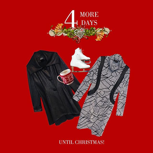 TGIF! And 4 more days to go! (Dress style # 8-6100 and faux leather jacket C-1909) • • #holidays #fashion #style #ootd #christmas #joy #tgif #skating #red #winter #boutique #canadian #toronto #madeincanada