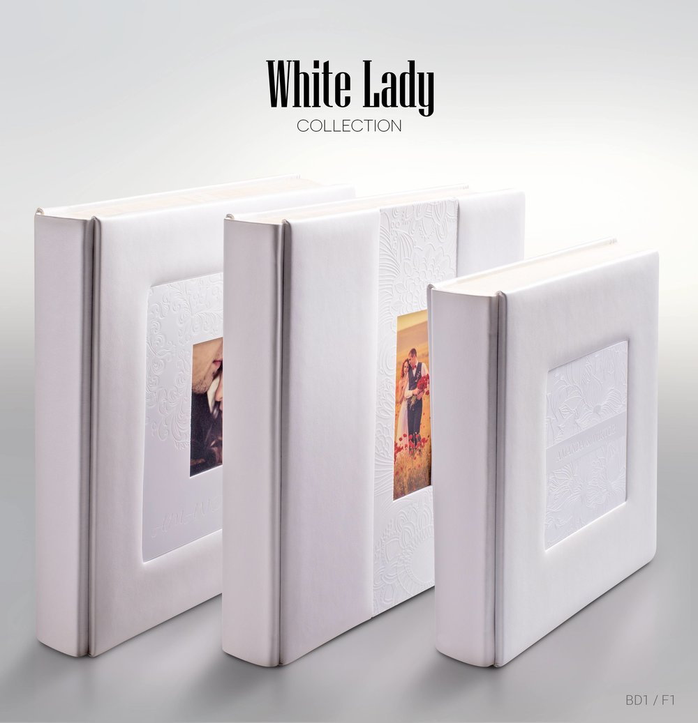 White Lady wedding albums