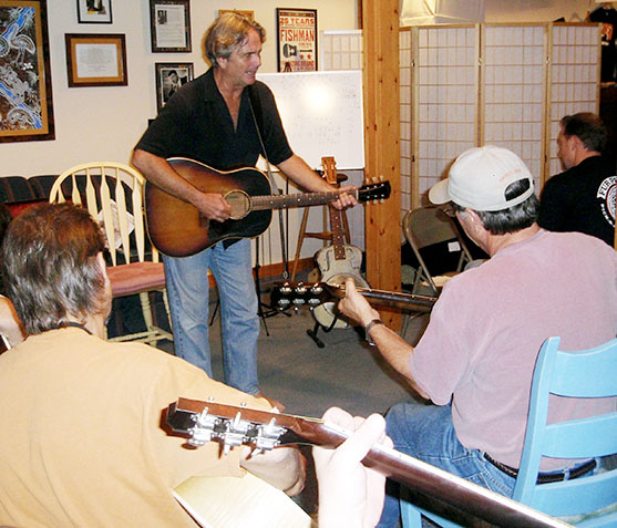 Spencer Bohren's guitar workshop at Fur Peace Ranch.