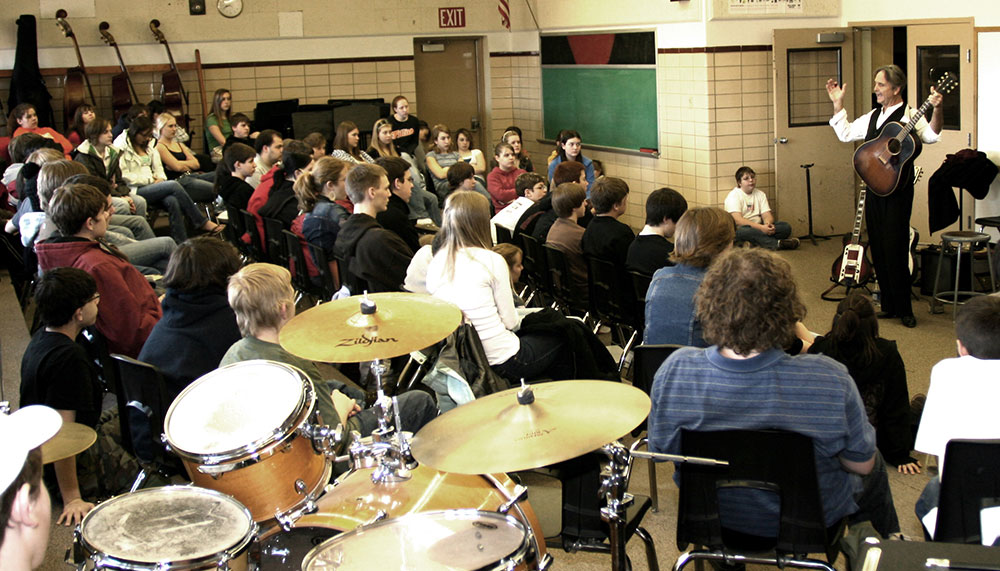 Down the Dirt Road Blues in a Wyoming junior high band room.