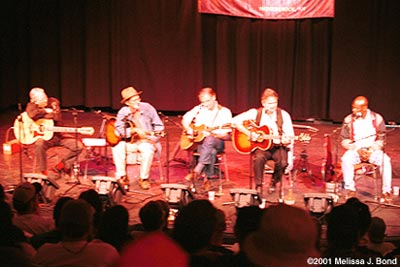 Merlefest 2001 Dave Ray, Roy Bookbinder, Geoff Muldaur, Spencer Bohren, Keith Brown