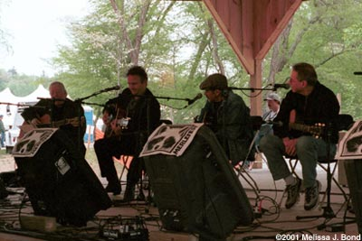 Merlefest 2001 Dave Ray, Spencer Bohren, Roy Bookbinder, Happy Traum (one copy only)