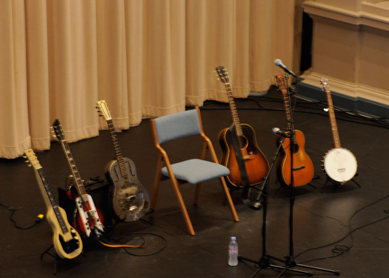 Instruments used for Down The Dirt Road Blues concert.