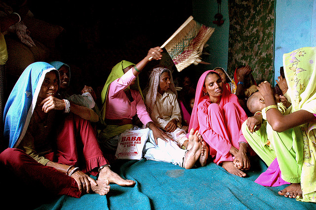 Women from the Mevat District in Haryana. Unfettered development programs could exacerbate gender inequalities in India. Photo courtesy of Flickr user  lecercle .