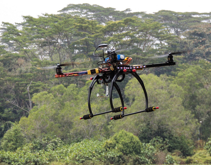 Hobbyists with a few hundred dollars now have access to drone technology. Photo credit: Michael Khor