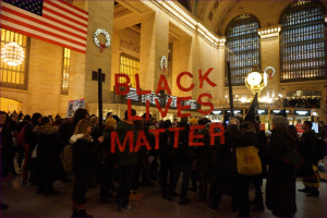 New Years Eve #BlackLivesMatter protest in New York City's Grand Central Station. Source: Flickr Creative Commons via  The All-Nite Images .