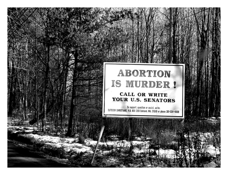 US anti-abortion activists encourage their supporters to lobby the government. Photo by: karmablue