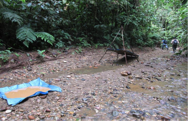 Illegal gold mining in the Amarakaeri rainforest in Peru. Photo by: Climate Alliance Org