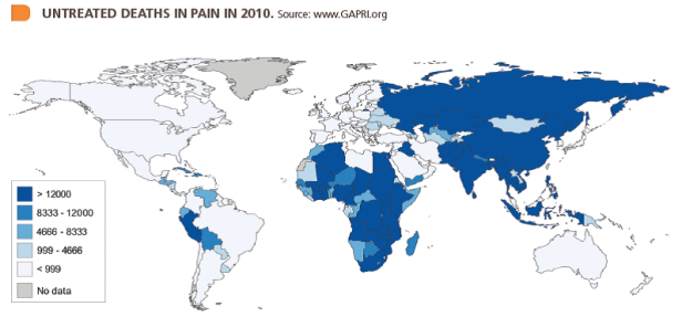 Graphic from:  Global Access to Pain Relief