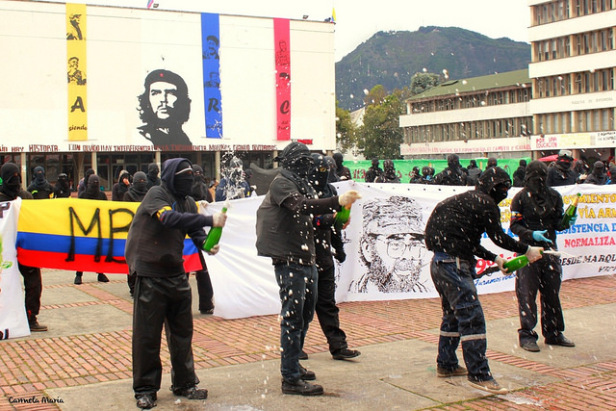 An event marking the 50th anniversary of the FARC. The Colombian internal armed conflict has lasted over 50 years. Photo by:  Carmela María