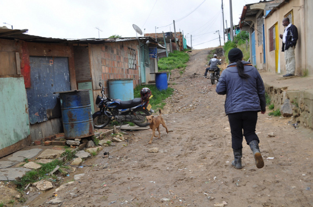 Altos de Florida, a marginalized neighborhood to the south of Bogotá, where many Colombians have resettled after fleeing the violence that has disproportionately affected black Colombians.