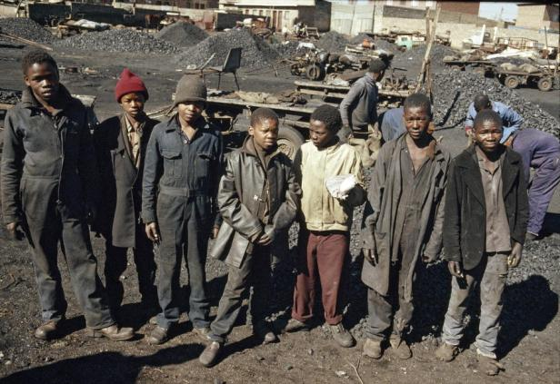 Young coal miners in South Africa. 1/Jan/1988. UN Photo/P Mugabane.  http://www.unmultimedia.org/photo/