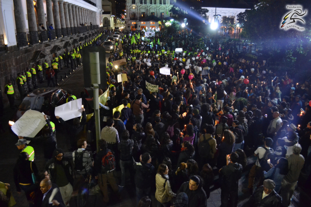 In Ecuador, government repression of popular consultations regarding oil exploitation in the Yasuni National Park led to national protests. Photo by: Daniel Mendoza.