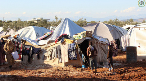 Refugee camp in Aleppo, Syria. Source: Flickr Creative Commons via IHH Humanitarian Relief Fund.