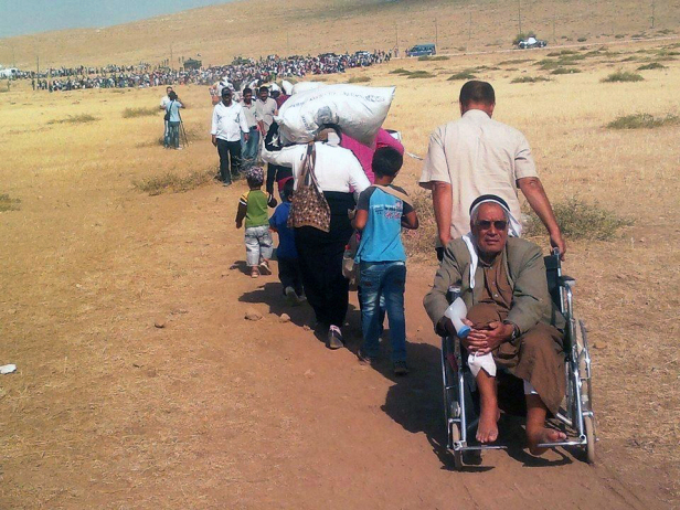 Syrian refugees flee to Turkey. Photo credit: EC/ECHO