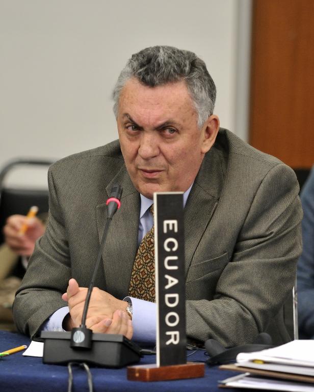 Fernando Suárez, Ambassador, Alternate Representative of Ecuador to the OAS. The government of Ecuador has led the campaign against the IACHR in recent years. Photo credit: Juan Manuel Herrera/OAS