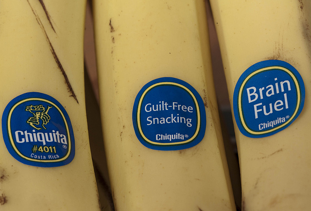 Chiquita Banana labels. Photo by: Dawn Huczek