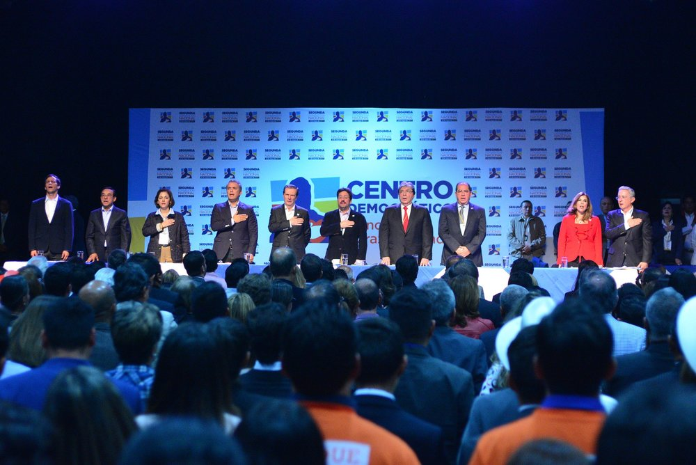 Conference of the Democratic Center, a right-wing party and the main opposition force to the Colombian government. Photo: Flickr- Centro Democrático