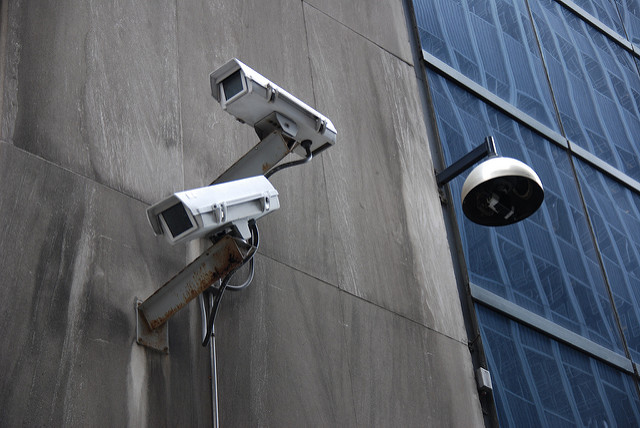 Surveillance cameras. Photo by: Jonathan McIntosh