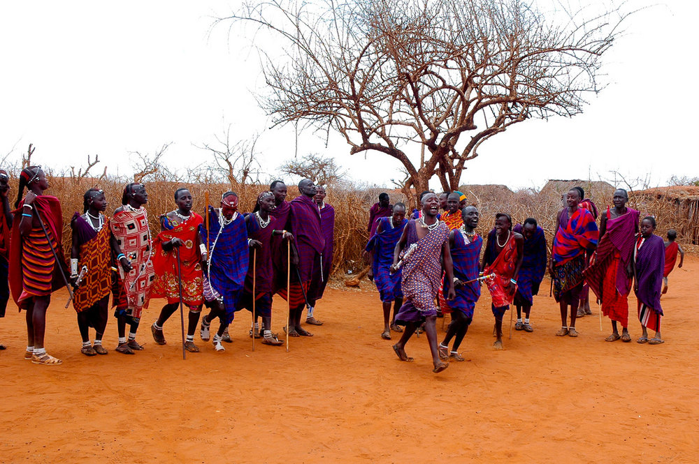A Massai group in Kenya. Photo credit:  Simon Cozens