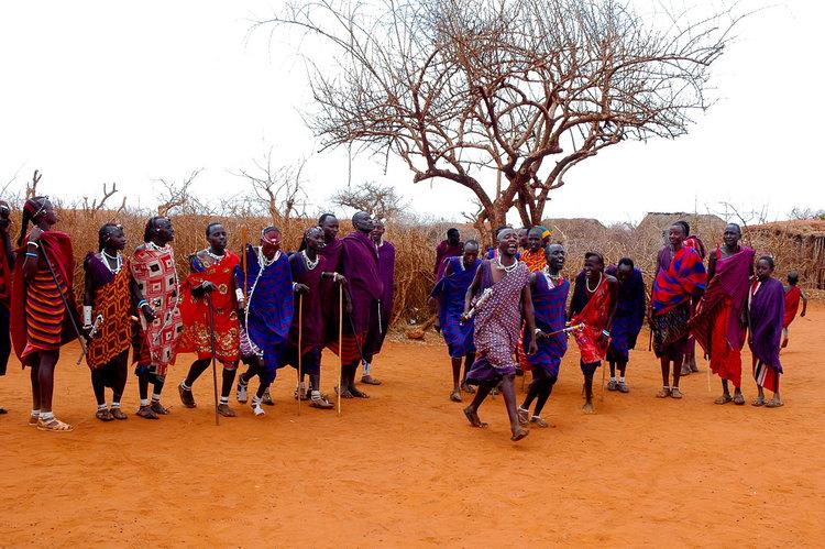 A Massai group in Kenya. Photo credit:Simon Cozens