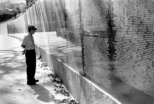 The El Salvador Civil War Memorial - more than 70,000 names of children, women, and men who died during the internal armed conflict are inscribed on the memorial. Photo: j h