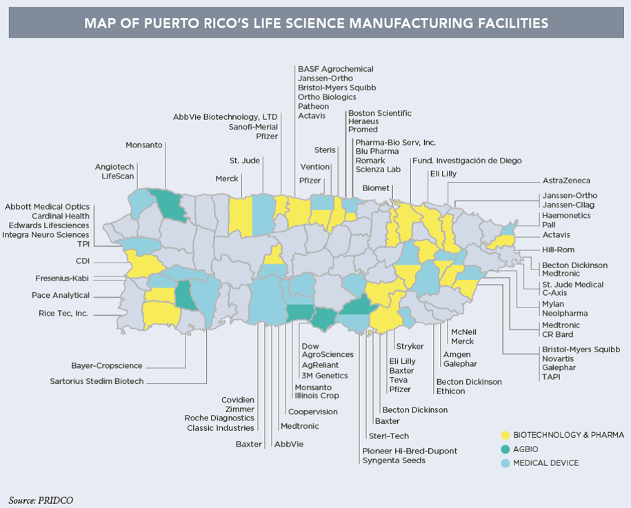 Life Science Manufacturing in Puerto Rico. Source:  PRIDCO