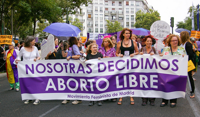 2013 protest in Madrid in favor of reproductive rights. Photo by:  gaelx