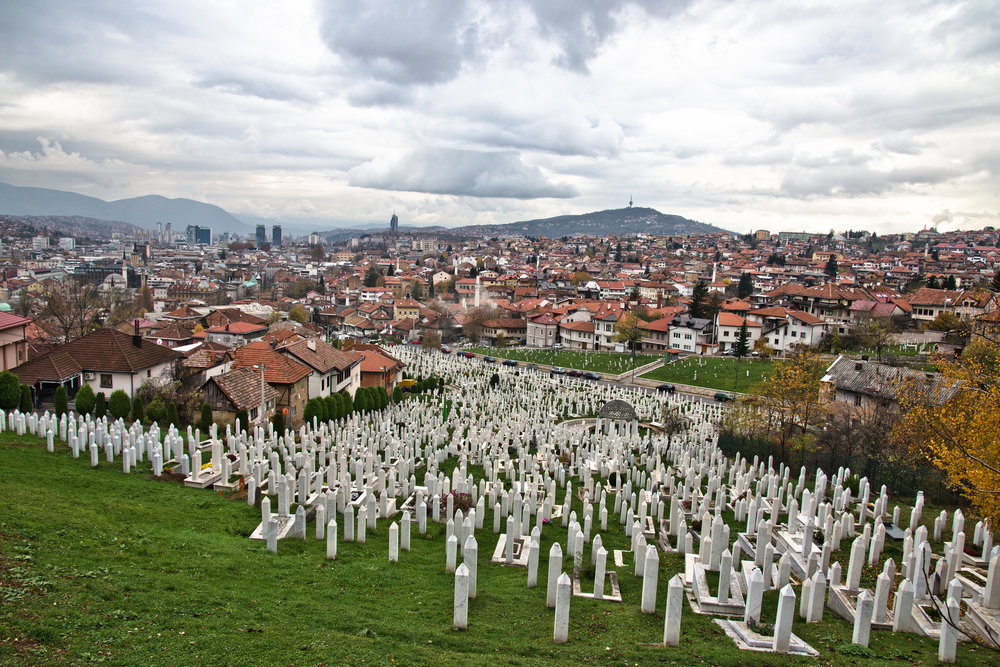 Cemetery in Sarajevo, Bosnia and Herzegovina. Photo by:  Marco Fieber