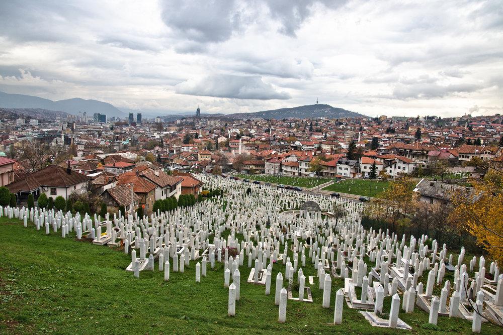 Cemetery in Sarajevo, Bosnia and Herzegovina.Photo by: Marco Fieber
