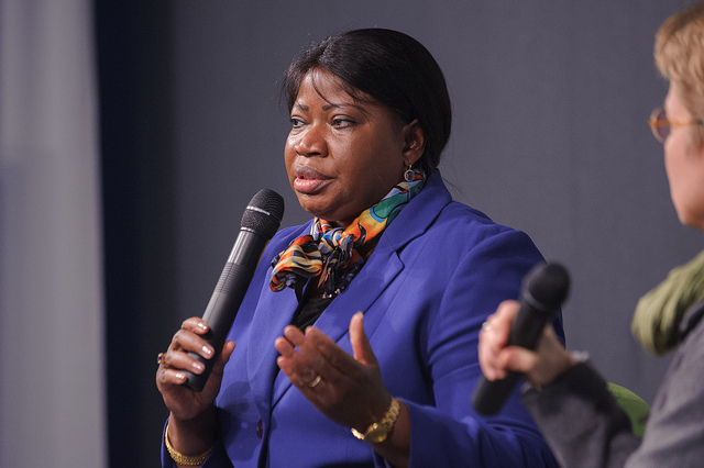 ICC Prosecutor, Fatou Bensouda. Image Source:    Heinrich-Böll-Stiftung   , Flickr (   CC BY-SA 2.0   ).