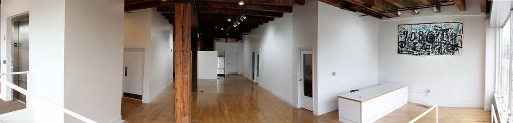 Each space is often programmed for a multitude of happenings, but our studio is split into several main spaces.